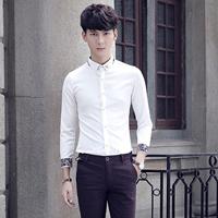 男士白色衬衫怎么搭配裤子鞋子 男人白衬衫清新打扮