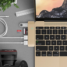 新一代MacBook简洁精美配件3 in 1 Combo Hub