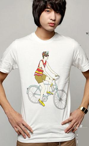 2010年春夏流行男士T恤搭配图片