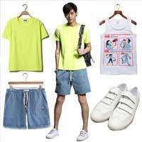 夏季潮男色彩搭配享受舒适和个性