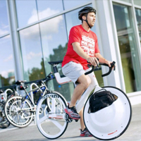 未来感设计自行车拉风哦
