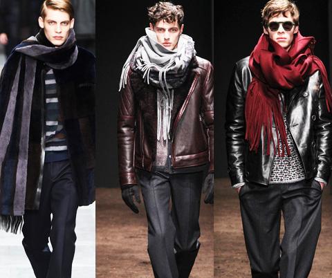 冬季围巾系法图文教程 男人围巾的各种围法