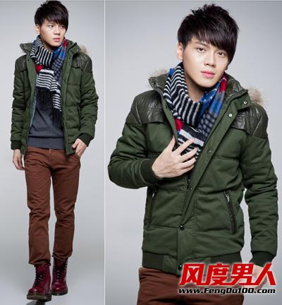 冬天男士棉衣搭配简约时尚成熟魅力