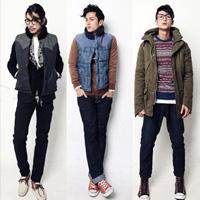 冬季韩式男装搭配个性休闲男士风