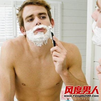 洗澡之前刮胡子是不正确的