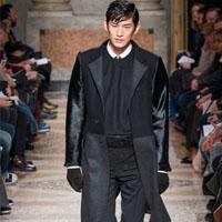 2014时装品牌Les Hommes男装诠释黑色及简色