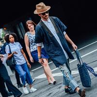 2016纽约时装周秀场外潮男时尚达人街拍