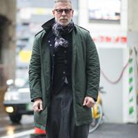 潮男冬装外套搭配街拍松温暖过冬