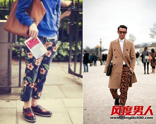 繁花流行季 型男新宠印花裤推荐