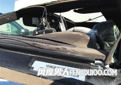 一辆正在售卖中的大切诺基 车架号。经查询,该车为天津港爆炸受损车辆
