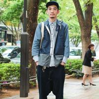 原宿26岁服装业潮男街拍搭配