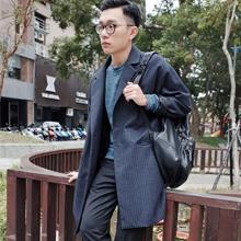 街拍冬季潮男衣服搭配 长款大衣格调搭配
