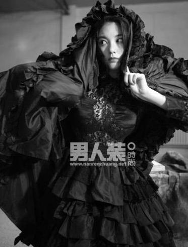 张雨绮为男人装拍摄写真